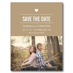 #Announcements #Photo Save The Date #wedding #weddings #wed #bridal #marriage #Invites #savethedate Brown Design Photo Save The Date Post Cards