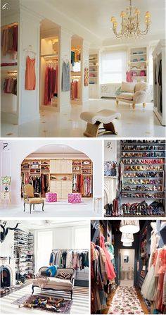 Closets Closets  more Yummy closets! Drooooooooool