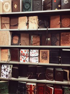 """Books & Pets perpetually-spring: """"broadclifford: """"Barnes & Noble """" This is the section I always end up in Journal En Cuir, Photo Polaroid, Leather Bound Journal, Book Aesthetic, Handmade Books, Book Binding, Book Journal, Travelers Notebook, Filofax"""