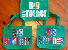 Big Brother Toddler Tote by thepunkinpatch on Etsy, $17.00 (have at the hospital with a toy & books)