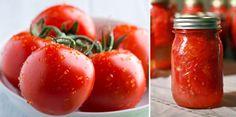 Cómoembotellar tus propios tomates para guardarlos y tenerlos a mano cada vez que los necesites. Preparación: 1-Comenzar hirviendo una olla grande de agua.Meter los tomates en el agua...