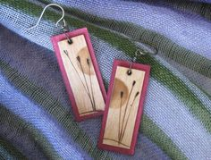 WoodBurned Earrings Sunset by BirchandBlooms on Etsy, $20.00