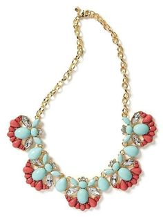 NEW WITH TAGS Banana Republic Shimmer Chic Statement Necklace Multicolor #BananaRepublic #Statement