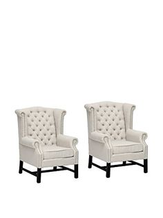 www.myhabit.com Love these in my lounge room This fabulous set features linen fabric upholstery, birch frame with stained legs and a high density polyurethane foam cushion