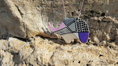 Elephant pendant, Colorful clay pendant, Long chain clay pendant, Animal pendant necklace, Hand drawn pendant, Double sided necklace Elephant Necklace, Handmade Jewelry, Unique Jewelry, Ball Chain, Hand Coloring, Clay Jewelry, Statement Jewelry, Necklace Lengths, Hand Drawn
