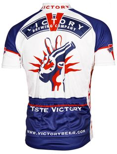 Victory Brewing Cycling Jersey by Retro Cycling Wear, Bike Wear, Cycling Jerseys, Cycling Outfit, Men's Cycling, Cycling Clothes, Victory Brewing, Performance Cycle, Bike Shirts