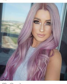 Silver*ish pink*ish lavender hair