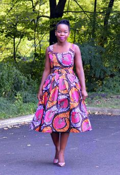 50's Audrey Hepburn Style Dresses  African Print by Jaalyi on Etsy, $95.00