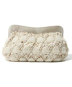 ROSE BUD crochet beads Purse