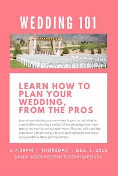 An educational event to help couples plan their weddings.