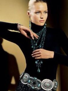 Ralph Lauren   Want mom to wear something like this top & belt, with skinny jeans and black Fryes.