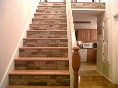 Airstone on stairs