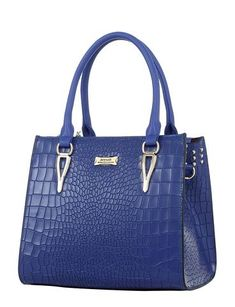 Chic Medium Leather Handbag - Blue