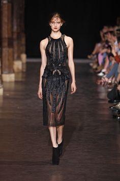Below knee length black dress