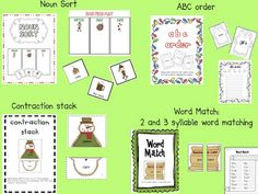 December Literacy Centers for First AND Second Grade (FREEBIE too) Reading Centers, Literacy Centers, Second Grade Freebies, Christmas Language Arts, Teaching Time, Teaching Ideas, Holidays Around The World, Holiday Themes, First Grade
