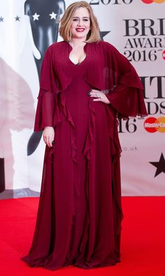 Adele attends the 2016 BRIT Awards