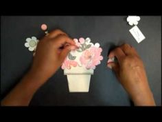 Flower Pot Card with Stampin' Up!'s Blossom Party - YouTube