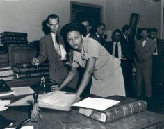 After graduating from the segregated Langston University with top honors in 1945, Fisher volunteered to be the successful test case for admission to the University of Oklahoma Law School represented by NAACP attorney Thurgood Marshall and Oklahoma attorney Amos T. Hall.