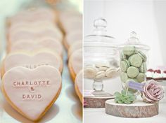 Personalized baked goods for a wedding favor!