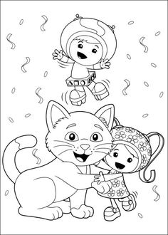 Milli Team Umizoomi Coloring Pages  Cartoon Coloring Pages
