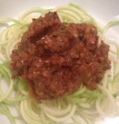 Day 6 - zucchini marinara dinner