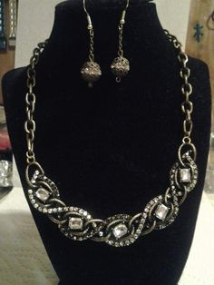 Twisted Elegance Necklace and Earrings $35.00