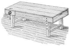"""Thanks to the """"The Beast"""" the bench choice is made. Over the next few months I will be building a version of an """"English"""" workbench. At the end of the process there will be a full """"How-To"""" if you fancy making your own which will feature some videos, drawings and photos. My concept is for a minimal hand tool build using readily available timber. This first post is a quick overview of the bench.......for more information visit the blog"""