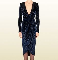velvet v-neck wrap dress
