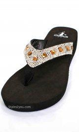 CF Seaside Flip Flop Sandal In Bronze