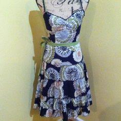 BCBG Max Azaria Floral Spring Dress Cute size 2 ruffled floral like new Spring Dress BCBGMaxAzria Dresses Midi