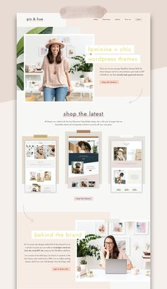 Website Design Inspiration, Beautiful Website Design, Blog Website Design, Photography Website Templates, Photography Website Design, Web Design Examples, Graphic Design Tools, Homepage Template, Wordpress Template