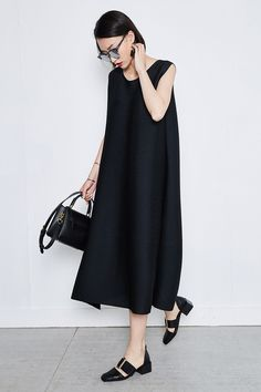 Oversized Sleeveless Maxi Dress