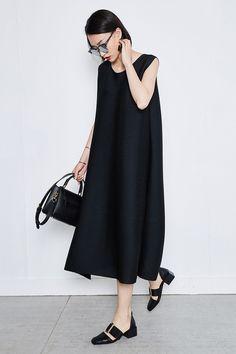 Oversized Sleeveless Maxi Dress