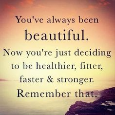 You've always been beautiful #fitness #quote PaleoCupboard.com