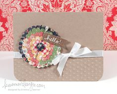 Card - Flower using a Heart Punch
