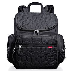 Bebamour Waterproof Diaper Backpack with Fit Stroller Changing Pad Black *** Be sure to check out this awesome product.