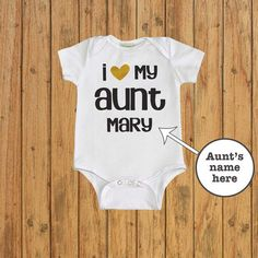 Hey, I found this really awesome Etsy listing at https://www.etsy.com/listing/274480512/i-love-my-aunt-baby-bodysuit-baby-shower