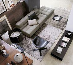 Sofá modular / moderno / de interior / de cuero TUFTY-TIME. B&B Italia
