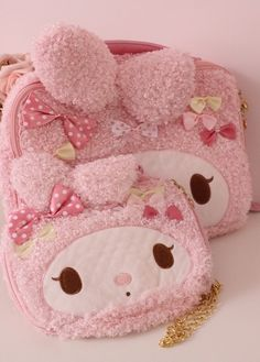 kawaii my melody ♥ SANRIO Kawaii Bags, Kawaii Shop, Kawaii Cute, Desu Desu, Bunny Names, Cute Coin Purse, Baby Friends, Sweet Bags, Sanrio Hello Kitty