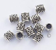Silver Viking Hair/Beard Beads with Knotwork.
