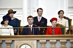 10/4/2016 Danish Royal family attended teh state opening of Parliament.