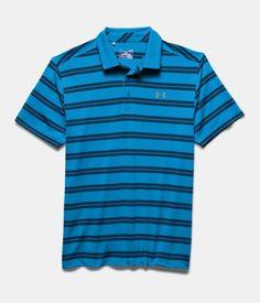 Men's UA Groove Stripe Polo, ELECTRIC BLUE, Laydown