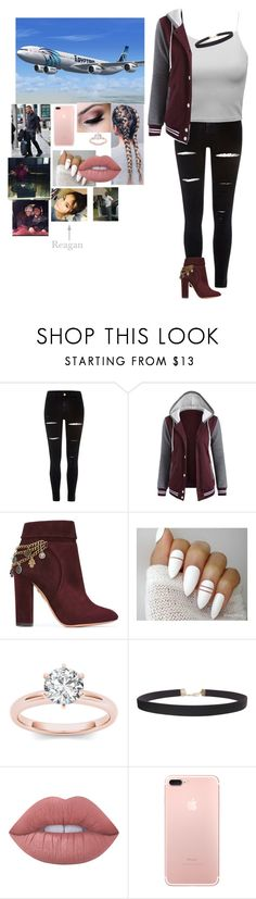 """""""Flying to Disney World for Christmas-Remi-"""" by riley-497 ❤ liked on Polyvore featuring River Island, Aquazzura, Humble Chic and Lime Crime"""