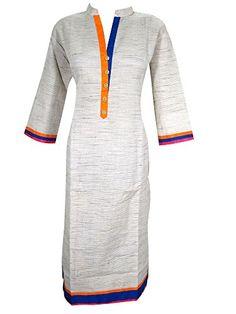 Womans Indian Kurta Tunic Tops Bohemian Cotton Dress Caftan Medium Mogul Interior http://www.amazon.com/dp/B00SMHZ8X2/ref=cm_sw_r_pi_dp_gKb2ub031VEG0