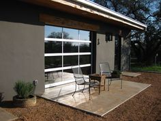 Special application Glass Door installed as a patio door on a casita on a ranch west of Kyle, TX: