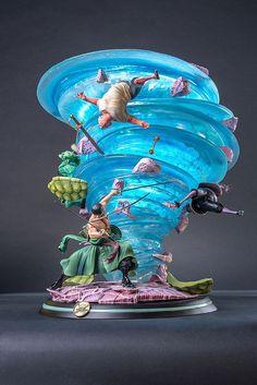 海賊王HQS雕像系列新作:索隆必殺技 黑繩大龍卷! | 玩具人Toy People News http://amzn.to/2pZy2Zo