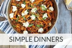 Link to simple dinner recipes from Back To The Book Nutrition