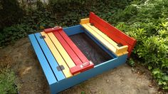 Ana White | Colorful Sandbox with Benches - DIY Projects