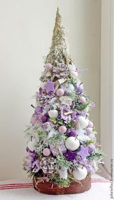 Купить Елочка Сирень - сиреневый, Новый Год, рождество, украшение дома, офиса, подарок, Праздник