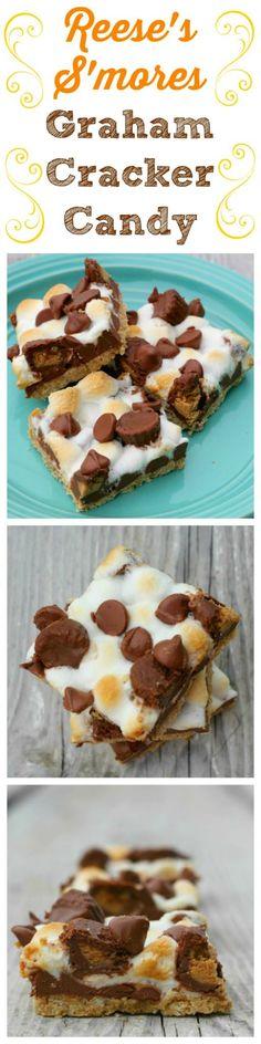 The Baking ChocolaTess | Reese's S'mores Graham Cracker Candy | http://www.thebakingchocolatess.com